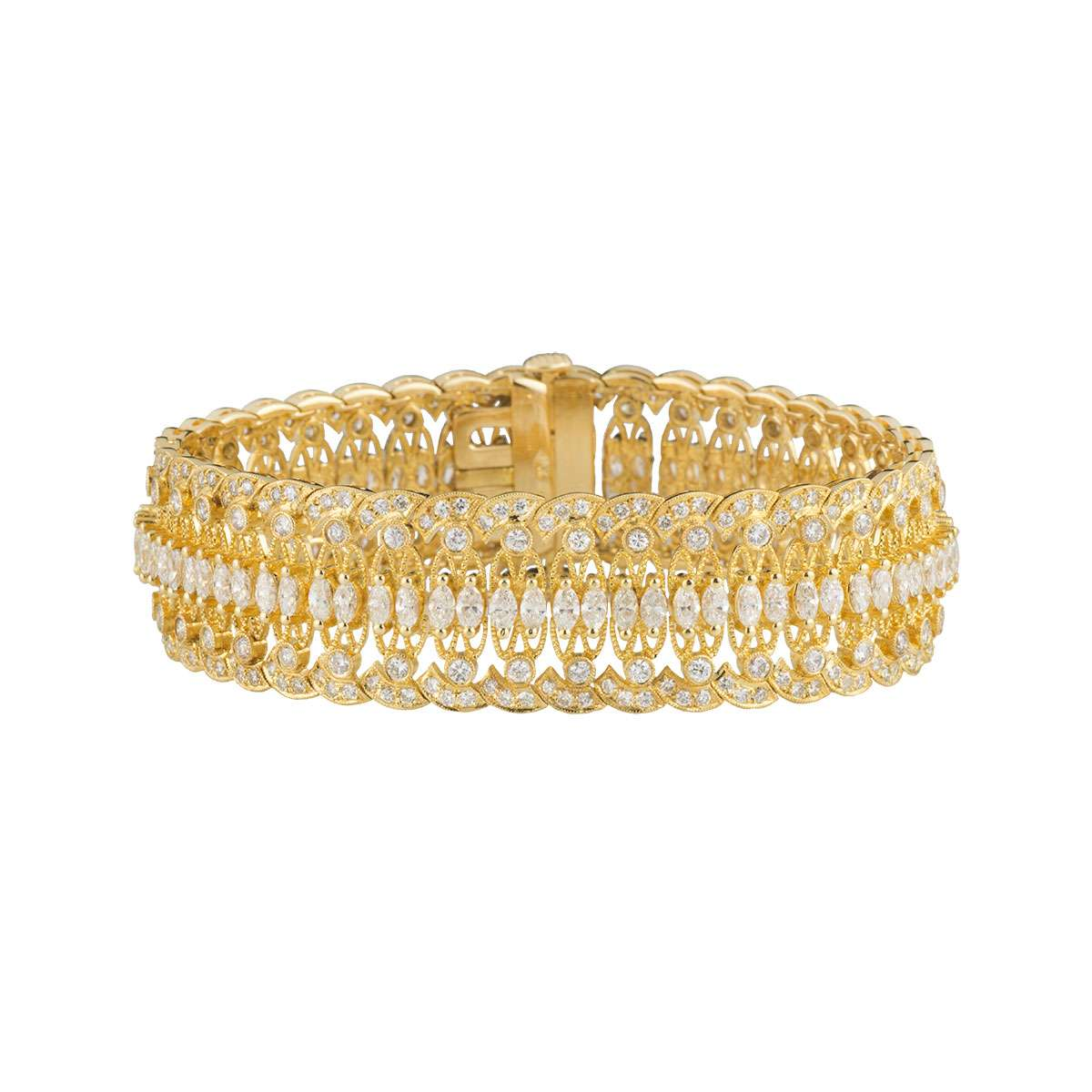 Yellow Gold Diamond Bracelet 11.41ct G/VS